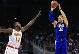 """B.Griffino trigubas dublis padėjo """"Clippers"""" pergalę iškovoti po trijų savaičių pertraukos"""
