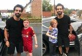 Gražus gestas: atkreipti dėmesį bandęs ir susižalojęs berniukas sulaukė M.Salah vizito
