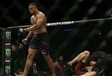 """""""UFC on ESPN+ 8"""": buvusi NFL žvaigždė pirmame raunde sutriuškino varžovą ir iškovojo pirmą pergalę UFC organizacijoje"""