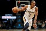 """R.Rondo džiaugiasi, kad """"Lakers"""" komandoje galės padėti tobulėti L.Ballui"""