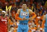 """R.Westbrookas: """"Galiu kiekvienose rungtynėse daryti tai, ko daugiau niekas negali"""""""