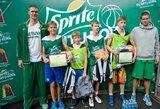 """""""Sprite talentų kovos"""" turnyre Palangoje apsilankė A.Sabonis ir krepšinio rinktinės vyrai"""