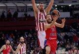 """CSKA ir """"Olympiacos"""" sulaukė solidžių baudų iš Eurolygos"""