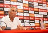"""Albanijos treneris E.Reja: """"Lietuva gerai žaidžia su kamuoliu"""""""