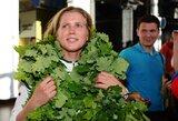 """Į Lietuvą trumpam sugrįžusi pasaulio čempionė G.Sheidt: """"Olimpiadoje didelių vilčių nepuoselėsiu"""""""