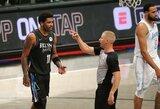 """""""Lakers"""" sutriuškino """"Nets"""", iš aikštės išvytos abiejų komandų žvaigždės"""