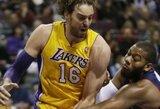 """K.Bryanto sugrįžimo laukiantis """"Lakers"""" pranoko """"Pistons"""" klubą"""