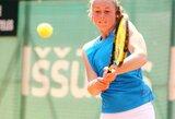 P.Bakaitė su partnere apmaudžiai pralaimėjo moterų teniso turnyro Turkijoje finalą
