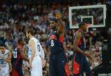 Po didžiosios pertraukos spurtavę JAV krepšininkai pateko į finalą