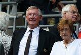 """A.Fergusonas įvardino savo favoritą, kas turėtų tapti nuolatiniu """"Manchester United"""" treneriu"""