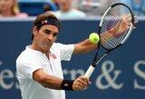 Pratęsime vos neprisižaidęs R.Federeris ketvirtfinalyje susitiks su savo bičiuliu