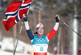 Svajonių finišas: M.Bjoergen laimėjo paskutinį Pjongčango olimpiados auksą ir pagerino dar vieną O.E.Bjoerndaleno rekordą