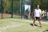 Padelio teniso kortų atidaryme Vilniuje visų žvaigždžių komanda įveikė žiniasklaidos atstovus