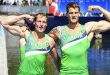 Abi Lietuvos porinės dvivietės tvirtai žengė į pasaulio čempionato pusfinalį