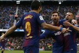 "Ispanijos ""La Liga"": ""Barcelonos"" triuškinanti pergalė prieš ""Deportivo"""