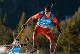 Europos biatlono čempionate sužibėjęs K.Dombrovskis – tarp taikliausių pasaulyje