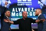 C.McGregoras ir E.Alvarezas specialioje spaudos konferencijoje negailėjo vienas kitam riebių žodžių