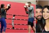 UFC fanai leipsta juokais: trenerius metęs M.Perry ringe pabandė padirbėti su savo mergina