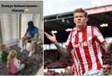 """Su IRA siejamą kaukę užsidėjęs ir savo vaikus istorijos mokęs """"Stoke City"""" futbolininkas sulaukė baudos"""