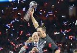 """Didžiulį deficitą panaikinusi """"New England Patriots"""" ekipa po pratęsimo triumfavo """"Super Bowl"""" rungtynėse"""