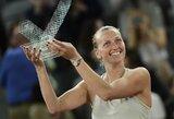P.Kvitova po beveik trijų valandų dramos laimėjo prestižinį turnyrą Madride