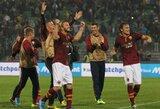 """""""Roma"""" iškovojo devintą pergalę iš eilės, """"Milan"""" pralaimėjo Parmoje"""