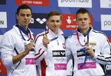 Karjeros laimėjimas: gimtadienį paminėjęs D.Rapšys iškovojo Europos plaukimo čempionato bronzą!