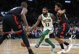 """""""Raptors"""" nesustabdė K.Irvingo ir pralaimėjo Bostone"""