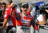 """J.Lorenzo iškovojo trečią """"pole"""" poziciją iš eilės, V.Rossi patyrė visišką nesėkmę"""