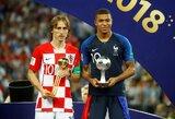 Net ir pralaimėjęs finalą L.Modričius tapo geriausiu pasaulio čempionato žaidėju, Ispanijos rinktinė žaidė sąžiningiausiai