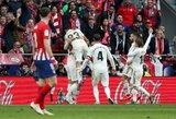 """Madrido derbis: saldi """"Real"""" pergalė ir kilimas į antrą vietą"""