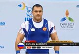 Dopingo vartojimu įtariamos Rusijos sunkiosios atletikos žvaigždės sulaukė sankcijų