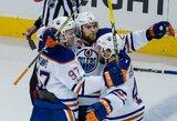 """""""Blues"""", """"Rangers"""" ir """"Oilers"""" keliauja į antrą NHL atkrintamųjų varžybų etapą"""