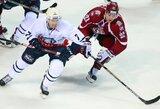 """KHL čempionate Rygos """"Dinamo"""" nusileido """"Medvescak"""" ekipai"""