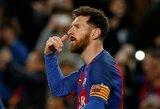 """Kova dėl """"Auksinio batelio"""": L.Messi įvarčio neįmušė, bet lyderio pozicijos neprarado"""