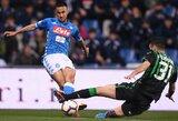 """""""Napoli"""" rungtynių pabaigoje išplėšė lygiąsias su """"Sassuolo"""""""