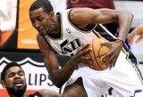 """Pergalė Oklende padėjo """"Jazz"""" aplenkti """"Lakers"""" klubą"""