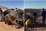 Dakaro drama: V.Vasiljevo automobilis sudegė, K.Al Qassimi vertėsi keletą kartų, A.van Beverenas ligoninėje