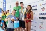 D.Rapšio taurės plaukimo varžybose – olimpiečio D.Grigalionio šeimos triumfas