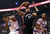 """J.Valančiūnas surinko dvigubą dublį, o """"Raptors"""" susitvarkė su """"Knicks"""" ekipa"""