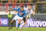 """Antrajame kėlinyje varžovų gynybą pralaužę """"Napoli"""" futbolininkai sutriuškino """"Bologna"""""""