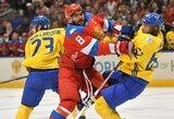 Neįtikėtina drama: lemiamomis sekundėmis neįskaitytas A.Ovečkino įvartis ir Švedijos rinktinės pergalė prieš rusus po dvylikos metų pertraukos