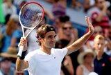 R.Federeris ir N.Djokovičius iškopė į ATP serijos teniso turnyro JAV finalą