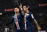 """M.Icardi pelnė """"hetriką"""", PSG lengvai pateko į Prancūzijos lygos taurės pusfinalį"""
