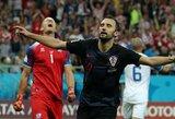 Pagrindinius žaidėjus tausoję kroatai iškovojo trečią pergalę iš eilės, islandai iškrito iš pasaulio čempionato