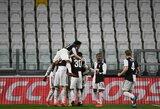"""Koronaviruso smaugiamoje Italijoje – """"Juventus"""" pergalė prieš """"Inter"""""""