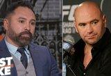 """UFC prezidentas D.White'as apie O.De La Hoya norą sugrįžti į boksą: """"Kokainas nėra pigus"""""""