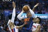 """Trigubą dublį atlikusio R.Westbrooko lemiamas tritaškis netikslus – """"Thunder"""" pralaimėjo"""