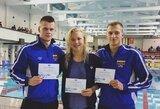 Lietuvos plaukimo čempionate iškovotą piniginį prizą R.Meilutytė, D.Rapšys ir A.Šidlauskas padovanojo fondui
