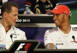 """L.Hamiltonas aplenkė M.Schumacherį ir tapo daugiausiai uždirbusiu """"Formulės 1"""" lenktynininku per istoriją"""